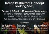 Indian Restaurant Concept Seeking Sites