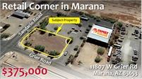 Retail Corner in Marana - (11807 West Grier Rd)