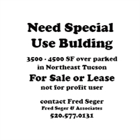 Want Special Use Building For Sale or Lease